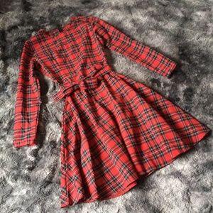 Vintage Handmade Plaid Dress